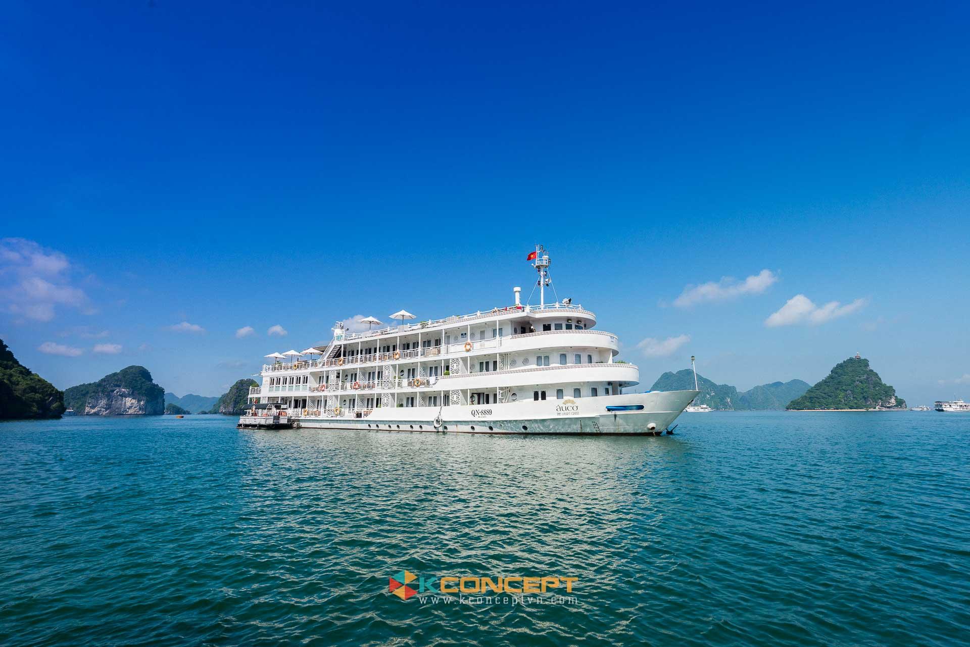 HÌnh ảnh trong dự án chụp ảnh du thuyền 5 sao Âu Cơ Cruise Hạ Long Bhaya