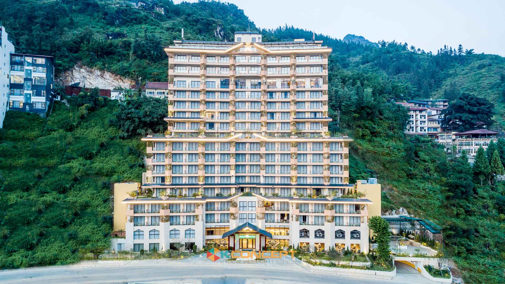 Hình ảnh về dự án chụp ảnh khách sạn flycam KK Hotel Sapa