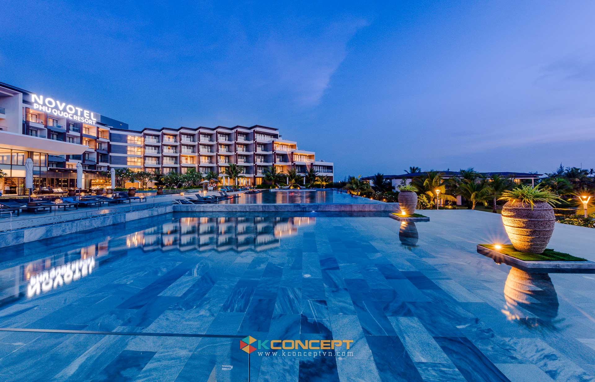 Hình ảnh về dự án chụp ảnh resort khách sạn Novotel Phú Quốc Resort